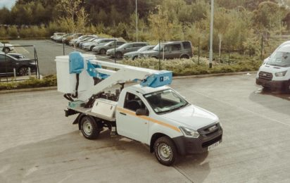 3.5 ton 13.2m 4x4 pick up mounted platform